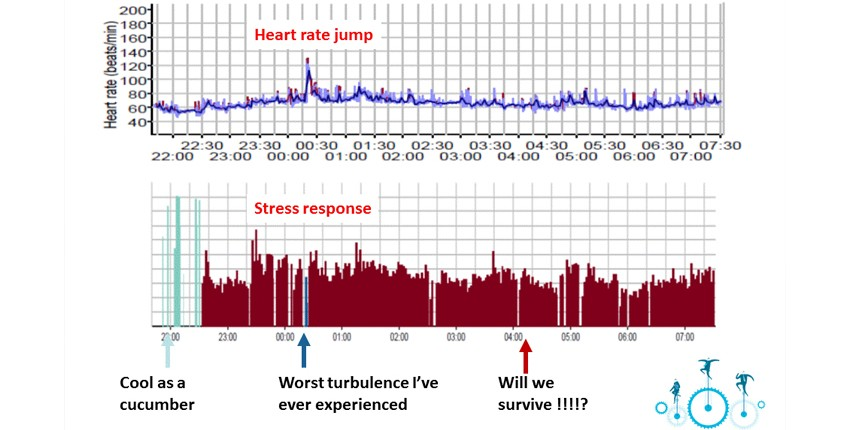 Stress Response on Flight to South Africa