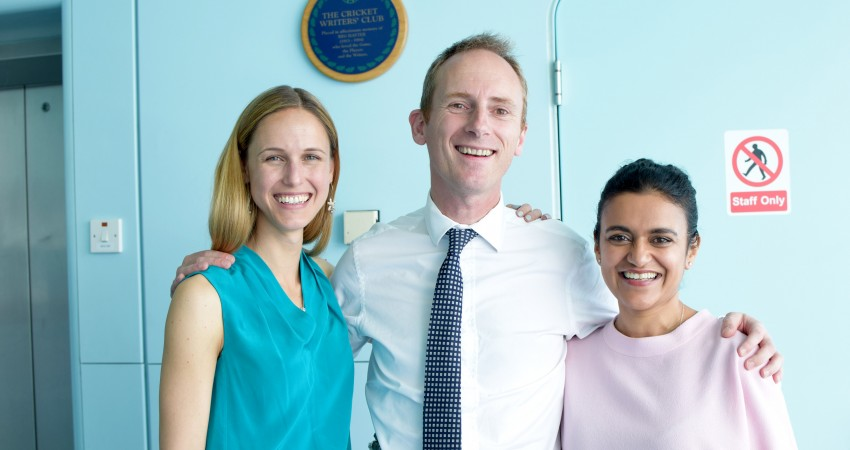 Hayley Pedrick, Simon Shepard and Dr. Tara Swart